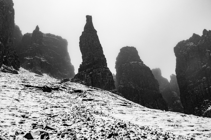 Skye - The Quiraing - Bad Weather