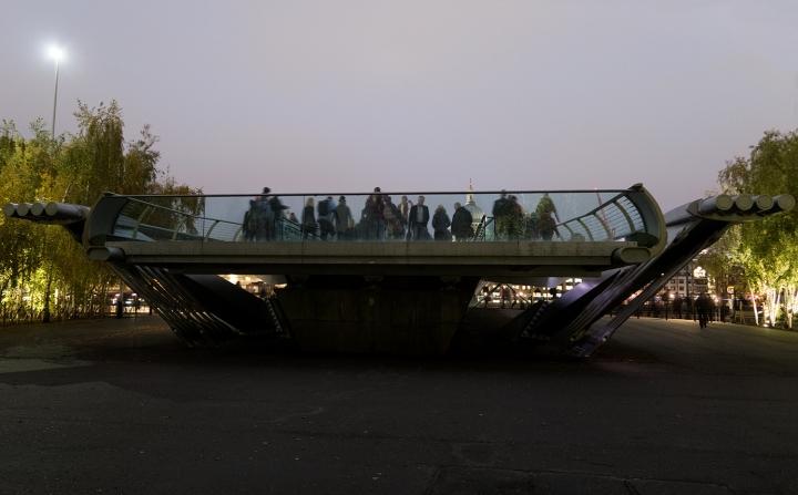South Bank - Millenium Bridge - Crowded